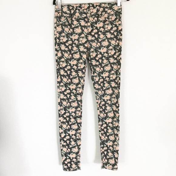Divided Denim - Floral print skinny jeans Jeggings